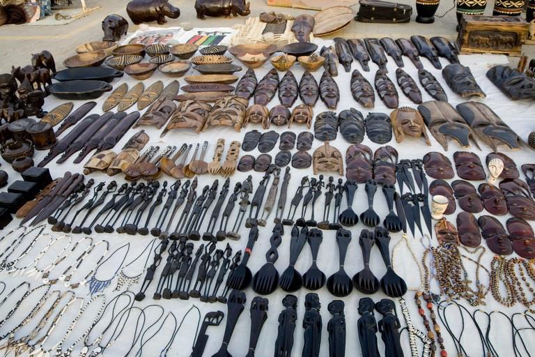 Artesanía en mercado local