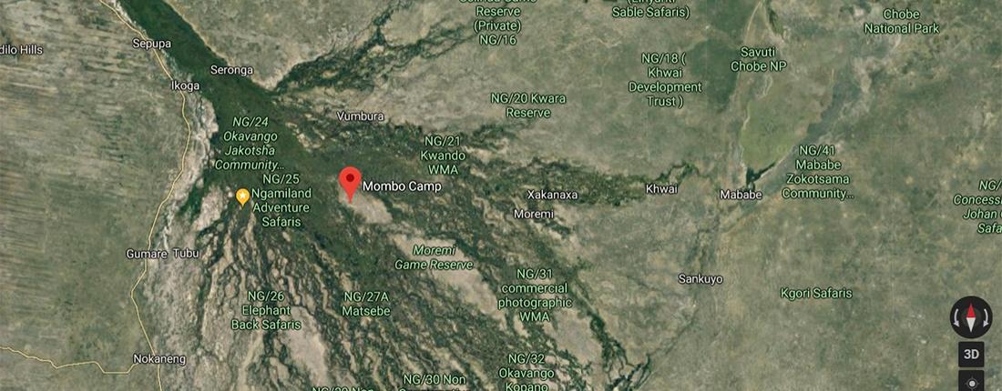 Mombo Camp - Mapa