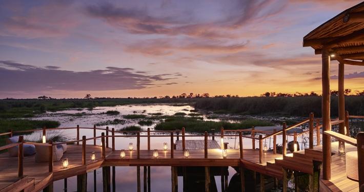 Atardecer en el Delta del Okavango