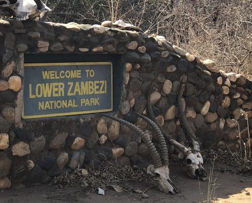 Zambia, entrada a Lower Zambezi