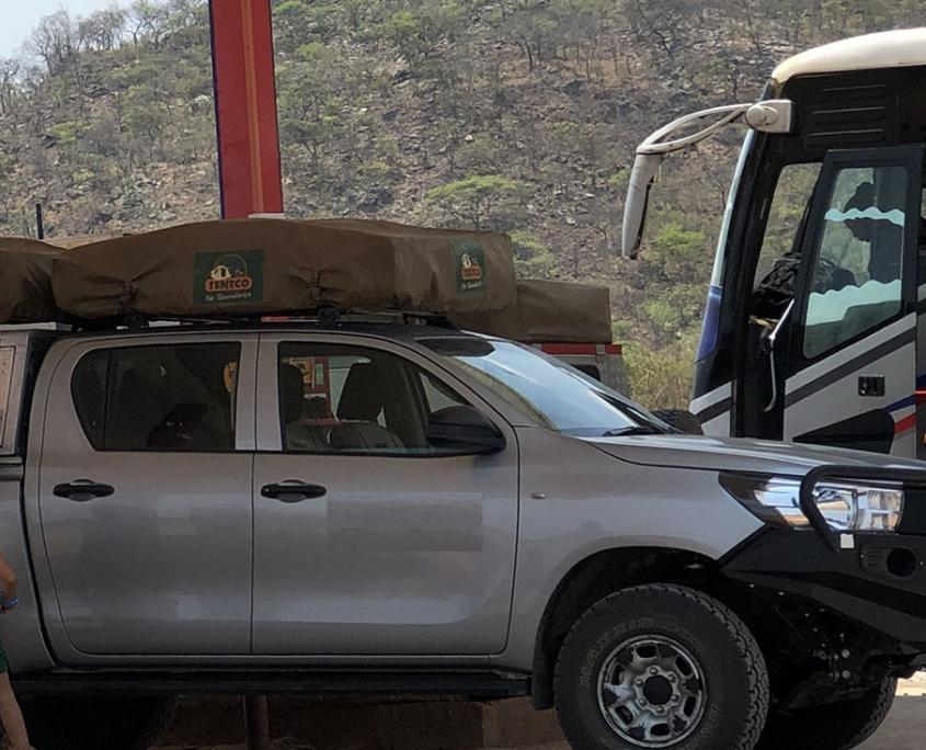 Nuestro coche en Zambia