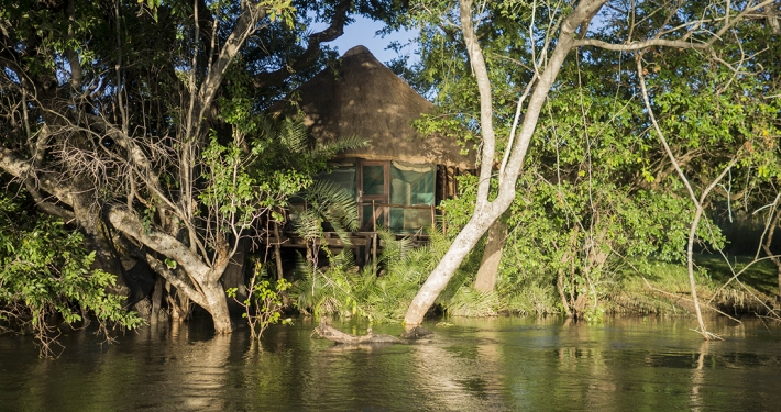 KaingU Safari Lodge -vista desde el Kafue