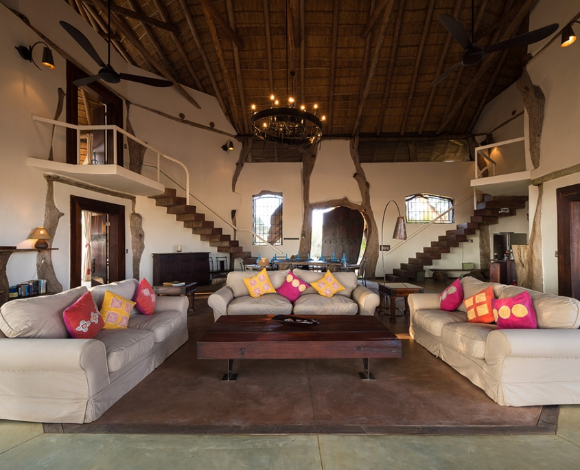 Luangwa Safari House . Sala de estar