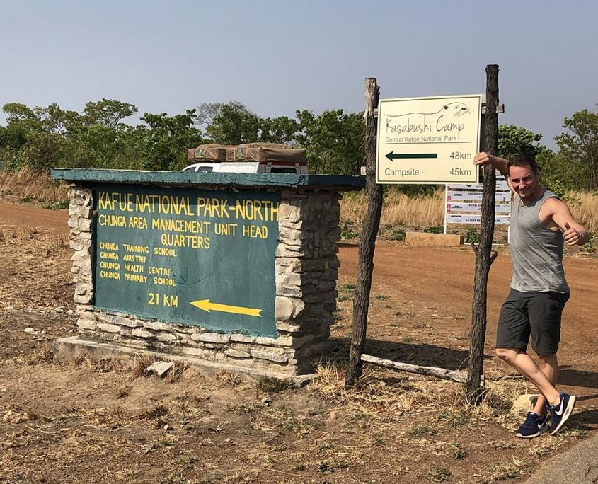 Entrada a Kafue . Viaje Zambia
