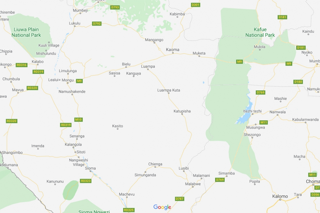 Mapa Liuwa Plains